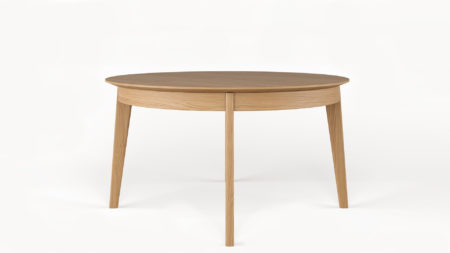 Drewniany stół rozkładany okrągły SCOLD 140-220